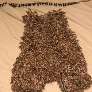 Anthropologie handknit by dollie vest size small